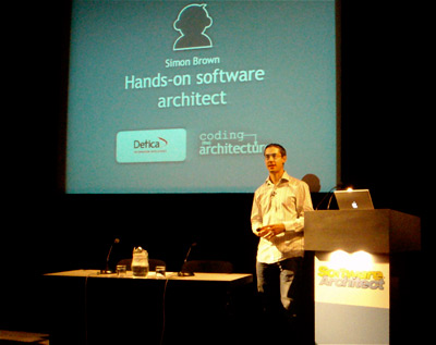 Simon Brown presenting Why Software Projects Fail at Software Architect 2008