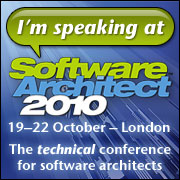 I'm speaking at Software Architect 2010